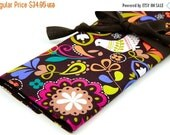 Sale 25% OFF Large Knitting Needle Case - Birds of Norway - brown pockets for all sizes or paint brushes, colored pencils