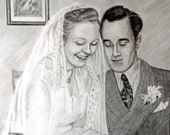 Custom Couple Portrait Anniversary or Wedding Gift