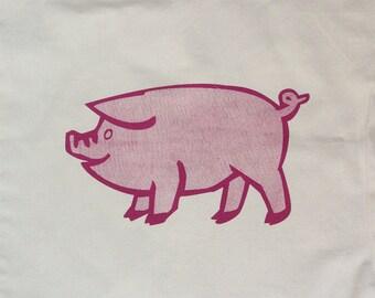 One Little Piggy Screenprinted Tote