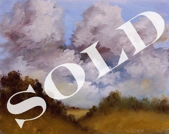 SOLD---------------------  Original Oil Painting, Landscape Painting, Home, Office, Decor, Winjimir, Country, Farmland,  8x10