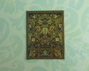 Dollhouse Miniature Small William Morris Tapestry Art Print Panel