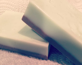 Chocolate Mint glycerin soap bar (1 bar). handmade. gifts for her. Gifts for friend. women. kids. teens. bath time fun.
