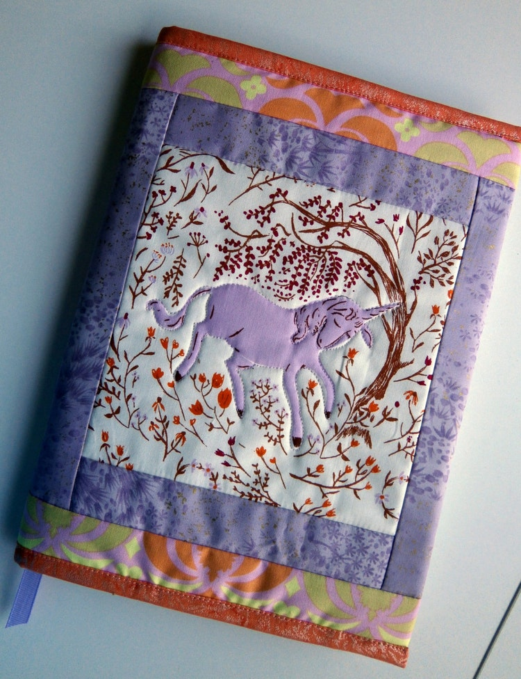 How To Make A Quilted Book Cover : Quilted journal cover pattern pdf download diy by pamelaquilts