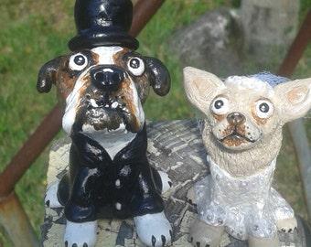 Wedding Cake Topper, Dog Cake Topper, Custom made from your photos, keepsake,bulldog cake topper, Chihuahua wedding topper