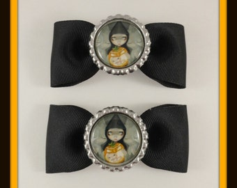 "Jasmine Becket-Griffith "" Born of a Pumpkin "" bow set"