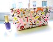Makeup Pouch, Women's Toiletry Bag, Travel Cosmetic Bag, Beauty Bag, Bag for Women, Pink Zipper Pouch