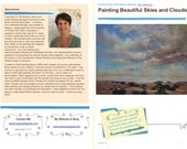 Pastel Painting Lesson Demo PDF Beautiful Skies and Clouds Art Tutorial  booklet landscape,how to,paint along,sunsets