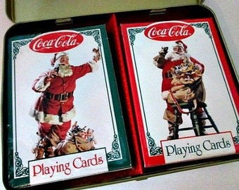 1994 Santa Coca-Cola Playing Cards - Sealed Complete in Original Tin Box