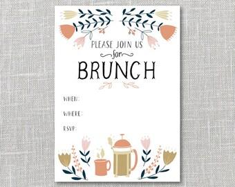 Bruch Invitation  Printable Instant Download PDF
