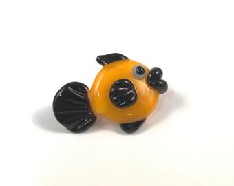 Glass Fish Pendant - Handmade Lampwork Fish