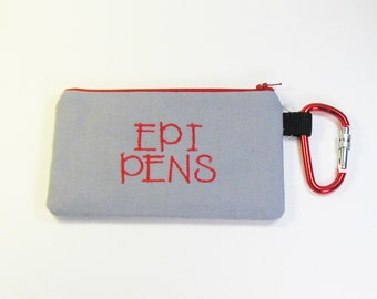 Wristlet Purse / Wristlet Clutch / Cell Phone Wristlet - Epi Pen Bag - Epinephrine Injector - Allergy Pouch
