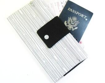 Travel Wallet / Travel Passport Holder / Passport Wallet / Passport Case / Passport Cover - Gray Scribble