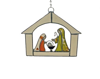 Christmas Stained Glass Window Nativity
