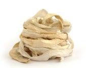 10metres recycled sari silk ribbon, undyed natural cream ecru, textile arts