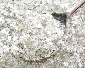 Mica Flakes  - Vintage Style Silver Christmas Snow Flakes - 1 oz.