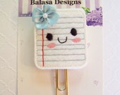 Notebook Paper Planner Clip, Bookmark, Planner Accessory, Paper Clip