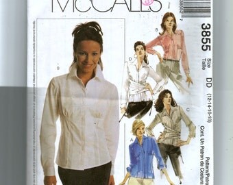 McCall's Misses' Blouses Pattern 3855