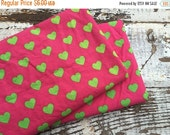 35% OFF CRAZY SALE- Hearts-Reclaimed Bed Linen Fabric