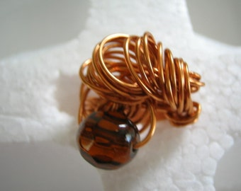 Larshema copper and glass bead size  7  1/2