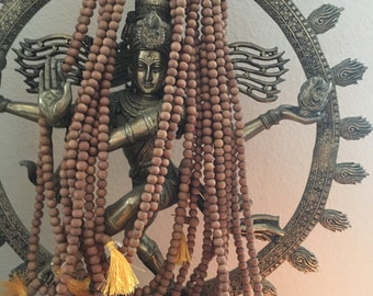 Sandalwood Beads 8-9mm 108 bead strand Mysore, India direct from Mysore Authentic Not Soaked in oil! Amazing Smell~