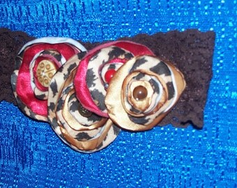 Floral Fabric Headband, Hair Bow, Hair Flower