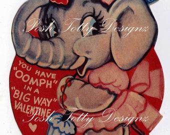 1920's Elephant Valentine's Vintage Digital Download Images (483)