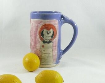 Handmade ceramic mug / big coffee cup, teacup, latte mug, pottery mug, ceramic cup pottery and ceramics,  505