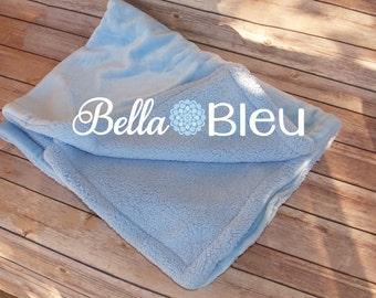 Monogram Blanket Boy, Blue Personalized Baby Blanket, Baby Minky Blanket, baby Gift for Boys, Personalized Baby Blankets for Boys