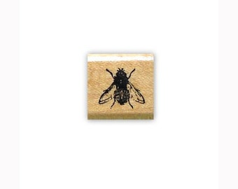 FLY Mounted bug rubber stamp, insect #15