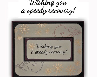 Wishing you a speedy recovery - UNMOUNTED rubber stamp, encouragement, Sweet Grass Stamps #23