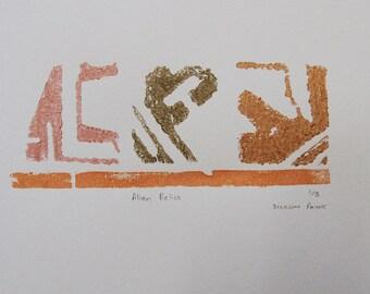 Original Print - 'Alien Relics' A3 size - 220gsm Paper - Unframed