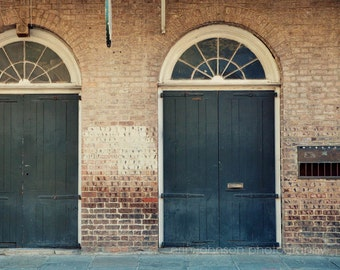 new orleans door photography new orleans art blue decor french quarter photograph brick architecture art