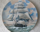 Vintage 1977 The Lightning Ship, Great American Sailing Ships Danbury Mint Collector Plate
