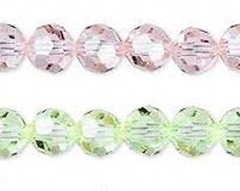 36  SWAROVSKI  Crystal - 6mm ROUNDS in CANTALOPE