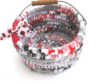MICKEY  Textile art BASKET  TOTE  Bucket