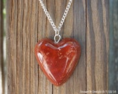 Red Brick Dust Heart Protection Necklace by Ugly Shyla hoodoo grisgris