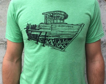 Skeleton Boat tee