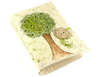 Apple Tree, Handmade journal, painted notebook