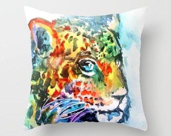 Jaguar Pillow, Jaguar Cushion, Animal Print, Safari print pillows, Jungle Animals, Jaguar Art, African Art, Safari Print Pillows, Safari