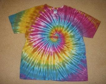 XL tie dye t-shirt, shibori design, extra large