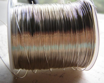 Tinned Copper Wire Dead Soft Round 12 to 26 Gauge Coiled Antique Silver Color