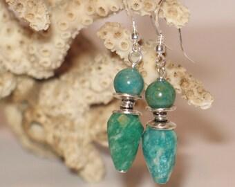 Russian Amazonite & Sterling Silver Earrings