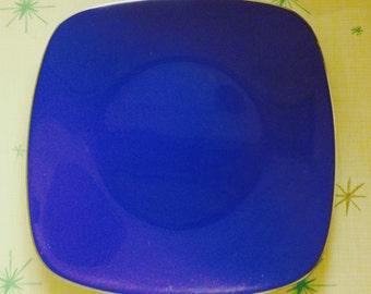 CATHRINEHOLM electric blue Tiffany series enamelware plate by Grete Prytz Kittelsen, Made in Norway
