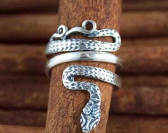 Snake-Serpent ~ Sterling Silver Wrap Ring