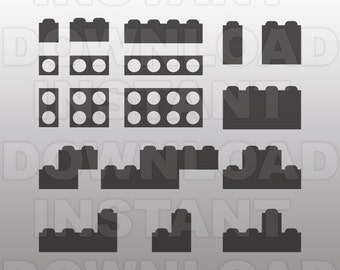 Lego Inspired SVG File,Legos SVG File,Lego Bricks SVG-Cutting Template-Vector Clip Art for Commercial & Personal Use-Cricut,Cameo,Silhouette