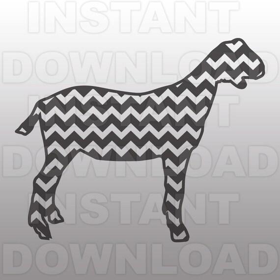 Download Show Goat SVG FileChevron Goat SVGLivestock SVG FileCutting