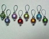 Rainbow Glass Stitch Markers For Sock Knitting - US 5 - Item No. 512
