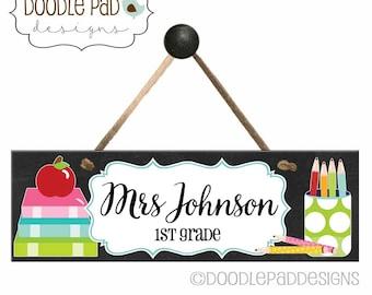 Personalized Classroom Decor Door Sign,