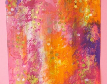 Pink rush 2 - abstract - originale - abstract paint