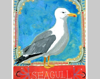 Animal Totem Print - Seagull